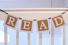 Teacher Gift Read Banner Classroom Banner by PartyandHomeDesign