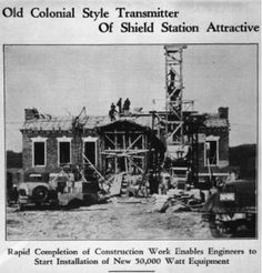 WSM's radio tower being constructed in Bentwood, TN. Finished in 1932, it increased the station's wattage to 50,000 watts, which, during the day, carried a signal 200 miles. At night, due to the earth's changing ionosphere, the Opry could be heard (intermittently) for a thousand miles. It is now an historic landmark. Visit Nashville, Nashville Tennessee, Grand Ole Opry, Tv On The Radio, Second World, Country Music, Studios, The Past, Tower