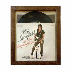 Rick Springfield 1981 Record Collage