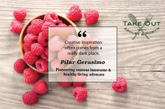 """Creative inspiration often comes from a really dark place."" - Pilar Gerasimo"