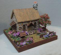 MSH113 Cobblestone Cottage - $55.00 : Karen Cary's Miniatures, Quarter Scale Kits & Wicker Kits
