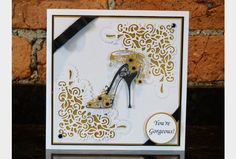 Tattered Lace High Heel Bella Die from Create and Craft USA Card Making Inspiration, Making Ideas, Stampin Up, Tattered Lace Cards, Dress Card, Die Cut Cards, Marianne Design, Create And Craft, Heartfelt Creations