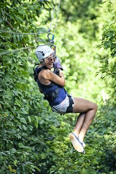 Zipline Canopy From Negril | Indulge yourself in a truly unparalleled experience as you take off on an adventure that has you soar like a bird, at speeds of up to 35 miles per hour, through the trees, hundreds of feet above the earth on secure zip-lines.