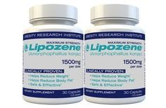 Lipozene Diet Pills - Maximum Strength Fat Loss Formula - 1500mg , 60 Capsules $26.79