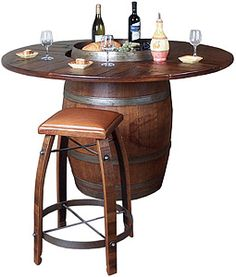For wine lovers who take great pleasure in serving fine wine to family and friends from the comfort of their own home, the Wine Country Collection includes dozens of pieces appropriate for the occasion.  Whether it's the unique serving centers, wine bottle displays, or elegant side tables, this collection's pieces are all handmade from recycled white oak wine barrels.  To complement the unique textures and shades of the wood $909