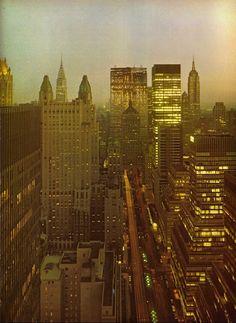 Park Avenue at dusk