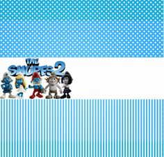 Smurfs: Free Printable Candy Bar Labels for Boys Party. Cd Labels, Candy Bar Labels, Printable Labels, Free Printables, Backgrounds Wallpapers, Candy Bags, Blogger Templates, Card Making, Kids Rugs