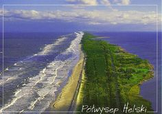 POLAND! <3                                   Hel Peninsula. From the left side Baltic Sea, from the right side Gdańska Bay