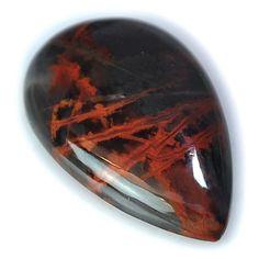 31.5Ct UNIQUE Natural Pilbara Jasper (34mm X 21mm) Cabochon #sonatona