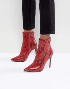KG By Kurt Geiger Ride Snake Print Ankle Boots 615b4c128a50