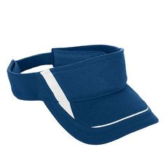 Augusta Sportswear Adjustable Wicking Sweatband Folds Down Mesh Edge Visor. 6275 Description   100% polyester textured wicking fabric, Wicks moisture away from the head, Three panels, Sweatband folds down for easy embellishment, White dazzle inserts on sides of the front panel and middle of bill, Pre-curved bill, Hook and loop fastener.