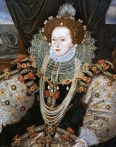 ] A woman with a high forehead was considered beautiful during the Elizabethan era, and upper-class Elizabethan women plucked or shaved their frontal hairs to achieve this look. These women also covered their skin with ceruse (lead-based) makeup, which caused peripheral neuropathy, gout, anemia, chronic renal failure, and disfiguring scarring, requiring the application of more ceruse makeup.[5] Chronic users, such as Queen Elizabeth I, acquired a misshapen appearance.