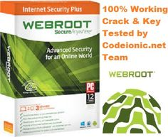 Webroot SecureAnywhere Internet Security Plus Crack Plus Serial Key Download | CodeIonic - Full Version Software with Cracks