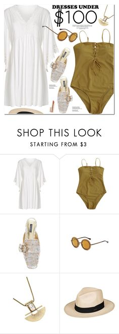 """Dresses Under $100"" by oshint ❤ liked on Polyvore featuring Dolce&Gabbana, Roxy and Estée Lauder"