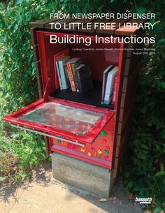 Little Free Library From Old Newspaper Dispenser. - Imgur