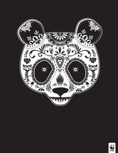Endangered Panda sugar skull by Justin Steinburg Tattoo Studio, B&w Tumblr, Catrina Tattoo, Piercings, Sugar Skull Art, Sugar Skulls, Panda Love, Panda Panda, Panda Bears