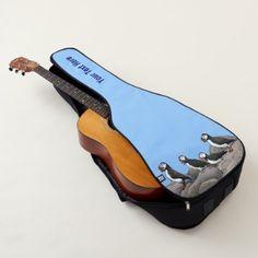 Atlantic Puffins Guitar Case -nature diy customize sprecial design