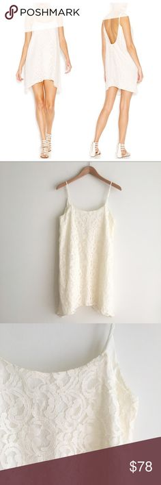 NWT BCBGeneration Lace Tank Dress Off-White Both small and medium available; both brand new with tags attached. Perfect for a bachelorette party or bridal shower. Off-white, Ivory, cream color Lace tank dress. Loose fit through body. Slightly longer on sides. Adjustable straps. Round neckline. Low cut back. Lined. BCBGeneration Dresses