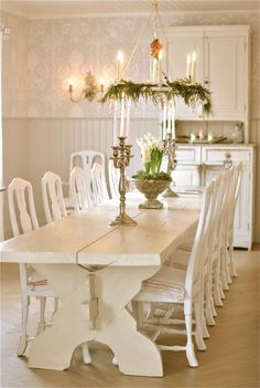 Shabby Chic Dining Room Ideas Images) - Home Magez Shabby Chic Dining Room, Shabby Chic Kitchen, Shabby Chic Furniture, Handmade Furniture, Rustic Furniture, Modern Furniture, Decoration Shabby, Shabby Chic Decor, Comedor Shabby Chic