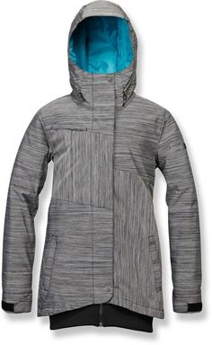 Gear up for winter game time and cheer on the snow with the Roxy Bring It On jacket, which features waterproof, insulated construction to keep you dry and warm from first chair to the last dismount.