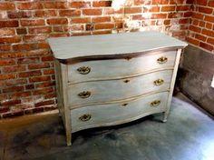Oak Dresser In Ocean Grey Beach Cottage Chic Via Etsy