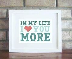In my life, I love you more - Beatles. This was one of the songs I used in my wedding and I just love it! Beatles Quotes, Beatles Lyrics, Beatles Love, Music Lyrics, Music Quotes, Beatles Poster, Life Lyrics, All You Need Is Love, Love Of My Life