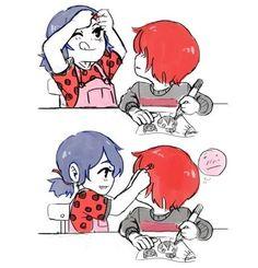 ♡ Miraculous Ladybug ♡ (2/3) little Nathaniel (Nathanael) x little Marinette