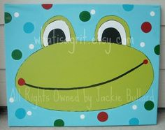 frog nursery wall art kids room canvas design kids room decor