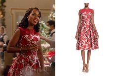 Scandal- Olivia con vestido rojo de Carolina Herrera