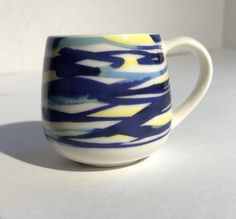 NEW Starbucks Espresso 3oz Blue Demi Cup Tiny Mug Watercolor 2016 762111208736 | eBay
