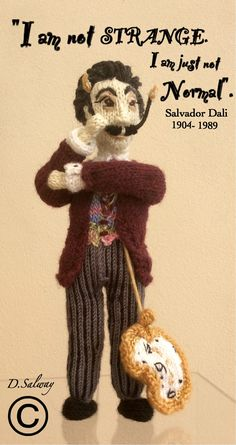 #Salvador #dali #knitted #doll #celeb #icon #surreal #surr… | Flickr