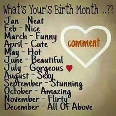 What Your Birth Monthay Says About You May Pinterest