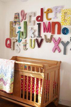 alphabet wall decor nursery