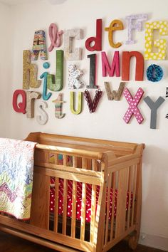 i will never tire of looking at these colorful alphabet walls!