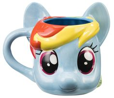 My Little Pony Rainbow Dash Sculpted Ceramic Coffee Mug