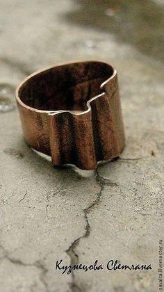 "Медное кольцо ""Характер"" - кольцо,колечко,медное кольцо,медь,медь"
