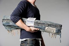 quincewithsugar: post-recycled jeans into denim rugs