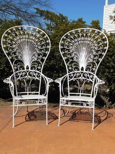 Vintage Salterini Peacock Chairs | From a unique collection of antique and modern garden furniture at https://www.1stdibs.com/furniture/building-garden/garden-furniture/