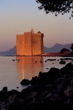 Fortress in St Honorat Island (Lerins Islands, Cannes)