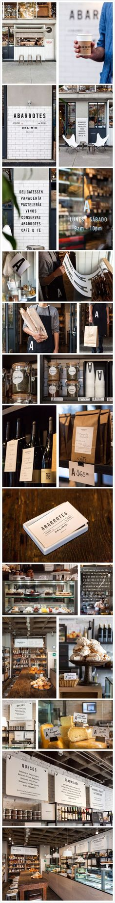 Awesome Branding Design - I love the eclectic style of Abarrotes Delirio by SAVVY studio; one of my favorite blends of design so far. Brand Identity Design, Corporate Design, Retail Design, Branding Design, Café Bar, Cafe Branding, Restaurant Branding, Retail Branding, Deco Restaurant