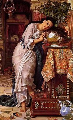 "William Holman Hunt, ""Isabella and the pot of basil"""