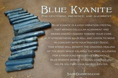 Tumbled Blue #Kyanite is perfect for centering, presence, and alignment. #CrystalHealing