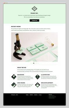 I think mint is my new fav color.  Frame Inc. via @mindsparklemag