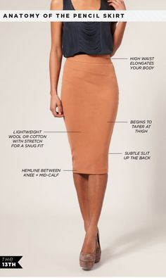 DIY Womens Clothing : [ANATOMY OF THE PENCIL SKIRT] Photo illustration by Brooke Rane for The Thirteen