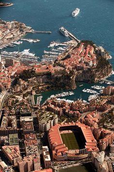 Monaco - Quartier de Fontvieille.