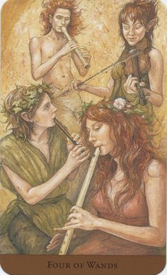 Tarot of the Hidden Realm - 4 of Wands