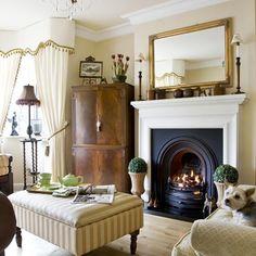 Antique-style living room   housetohome.co.uk