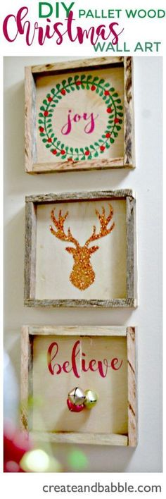 I love these DIY Pallet Wood Shadow Box. So easy to make these beautiful Christmas decorations.