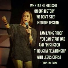 Powerful truth from tonights message! Loved our SISTERS night! ;) Christine Caine