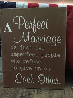A Perfect Marriage Wood Sign Shabby Chic Rustic Indoor Outdoor | eBay